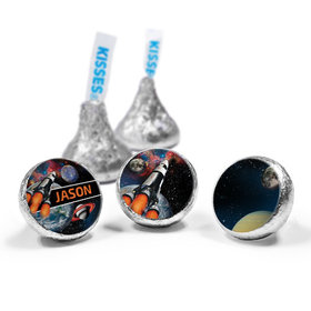 Personalized Birthday Space Blast Hershey's Kisses (50 Pack)