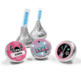 Personalized Birthday Rock Star Girl Hershey's Kisses (50 Pack)