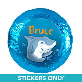 "Personalized Birthday Shark 1.25"" Stickers (48 Stickers)"