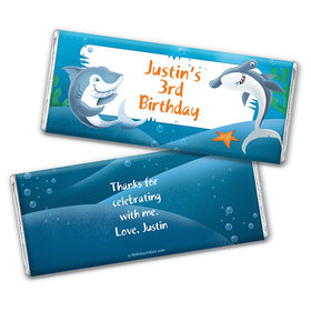 Personalized Birthday Shark Chocolate Bar Wrappers