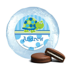 Personalized Birthday Turtle Milk Chocolate Covered Oreos (24 Pack)