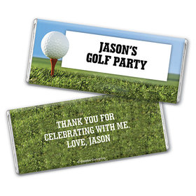 Personalized Birthday Golf Chocolate Bar & Wrapper