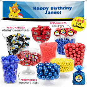 Personalized Kids Birthday Pokemon Themed Deluxe Candy Buffet