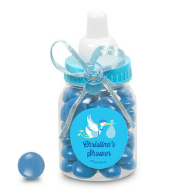 Baby Shower Personalized Blue Baby Bottle Special Delivery (24 Pack)
