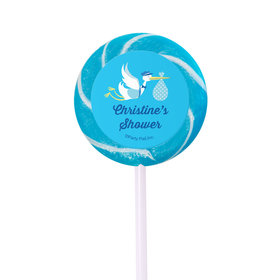 Baby Shower Personalized Small Swirly Pop Special Delivery (24 Pack)