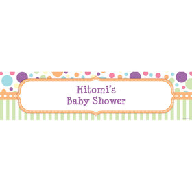 Pastel Baby Shower Personalized Banner