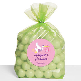 Pastel Baby Shower Personalized Cello Bags (Set of 30)