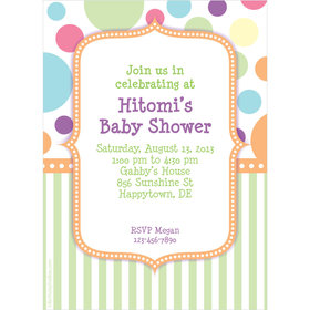 Pastel Baby Shower Personalized Invitation
