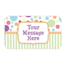 Pastel Baby Shower Personalized Rectangular Stickers (18 Stickers)