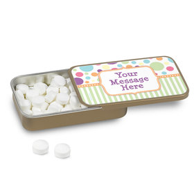 Pastel Baby Shower Personalized Mint Tin (12 Pack)