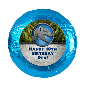 "Personalized Birthday Dinosaur Themed 1.25"" Stickers (48 Stickers)"