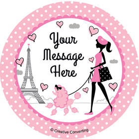"Paris Party Personalized 2"" Stickers (20 Stickers)"