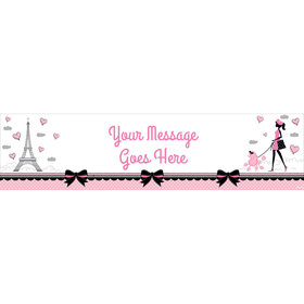 Personalized Paris Party 5 Ft. Banner