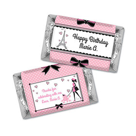 Personalized Birthday Poodle Hershey's Miniatures