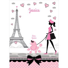 Paris Party Personalized Thank You Note