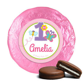 Personalized Birthday Butterfly Belgian Chocolate Covered Oreos (24 Pack)