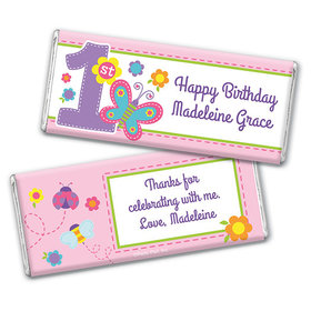 Personalized Birthday Butterfly Chocolate Bar & Wrapper