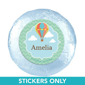 "Personalized Birthday Balloons 1.25"" Stickers (48 Stickers)"
