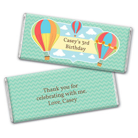 Personalized Birthday Balloons Chocolate Bar & Wrapper