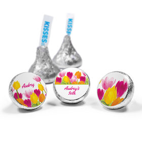 Personalized Birthday Tulips Hershey's Kisses (50 Pack)
