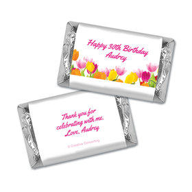 Personalized Birthday Tulips Miniatures Wrappers