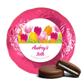 Personalized Birthday Tulips Milk Chocolate Covered Oreos (24 Pack)
