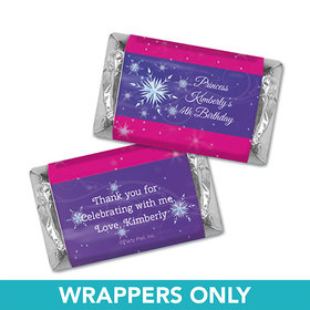 Personalized Birthday Ice Princess Miniatures Wrappers
