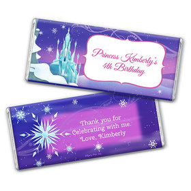 Personalized Birthday Ice Princess Chocolate Bar & Wrapper with Gold Foil