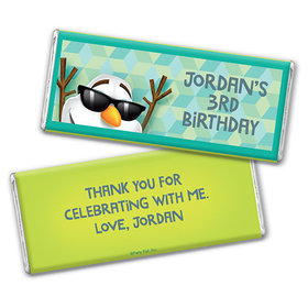 Personalized Birthday Snowman Chocolate Bar & Wrapper
