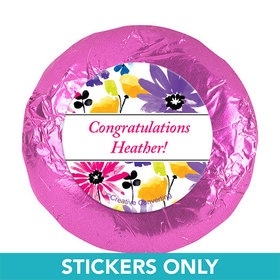 "Personalized Birthday Garden Blooms 1.25"" Stickers (48 Stickers)"