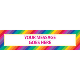 Personalized Rainbow Birthday 5 Ft. Banner