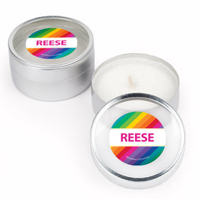 Rainbow Birthday Personalized Candle (Set of 12)