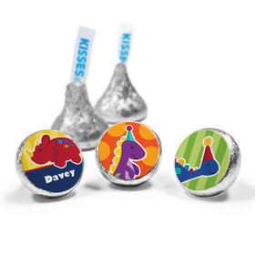 Personalized Birthday Dinosaurs & Balloons Hershey's Kisses (50 Pack)
