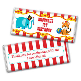 Personalized Birthday Circus Chocolate Bar & Wrapper