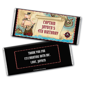 Personalized Birthday Pirate Map Chocolate Bar & Wrapper