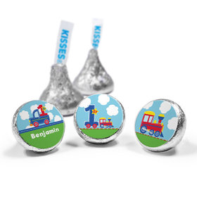 Personalized First Birthday Train Hershey's Kisses (50 Pack)