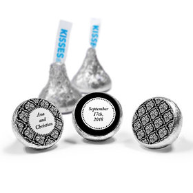 Personalized Wedding Demask Hershey's Kisses (50 Pack)