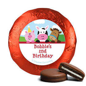 Personalized Birthday Farmhouse Belgian Chocolate Covered Oreos (24 Pack)