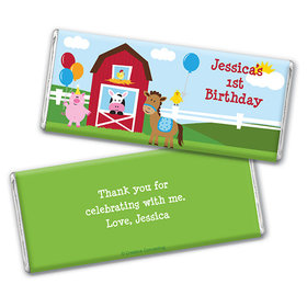 Personalized Birthday Farmhouse Chocolate Bar & Wrapper