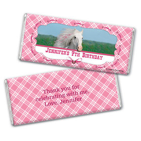 Personalized Birthday Horse Chocolate Bar & Wrapper