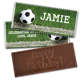 Personalized Birthday Soccer Balls Embossed Happy Birthday Chocolate Bar