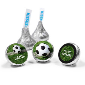 Personalized Birthday Soccer Balls Hershey's Kisses (50 Pack)