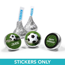 "Personalized Birthday Soccer Balls 3/4"" Sticker (108 Stickers)"