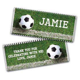Personalized Birthday Soccer Balls Chocolate Bar & Wrapper
