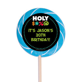 "Holy Bleep Milestone Personalized 3"" Lollipops (12 Pack)"