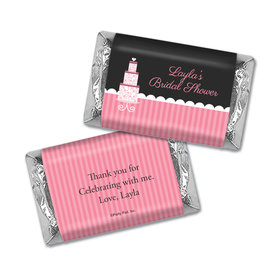 Personalized Bridal Shower Pink Cake Miniatures Wrappers