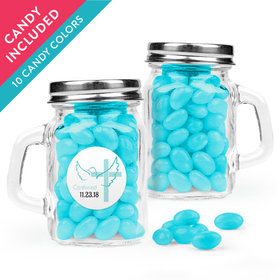 Personalized Boy Confirmation Favor Assembled Mini Mason Mug with Just Candy Jelly Beans