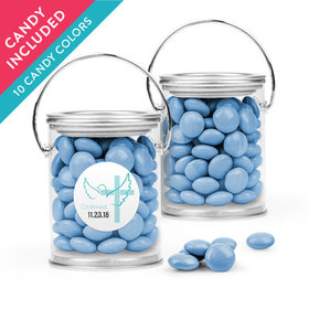 Personalized Boy Confirmation Favor Assembled Paint Can with Just Candy Milk Chocolate Minis
