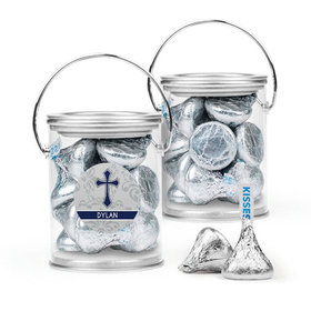 Personalized Boy Confirmation Favor Assembled Paint Can with Hershey's Kisses