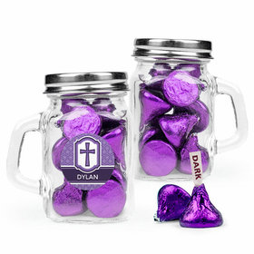 Personalized Girl Confirmation Favor Assembled Mini Mason Mug with Hershey's Kisses